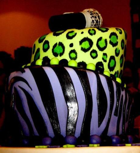 Chocolate & Vanilla Topsy Turvy cake